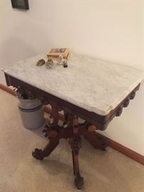 Italian Marble antique side table