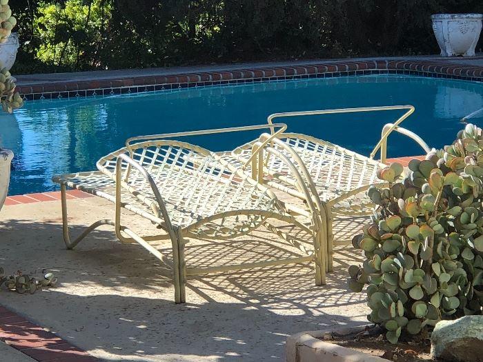 Brown Jordon lounge chairs