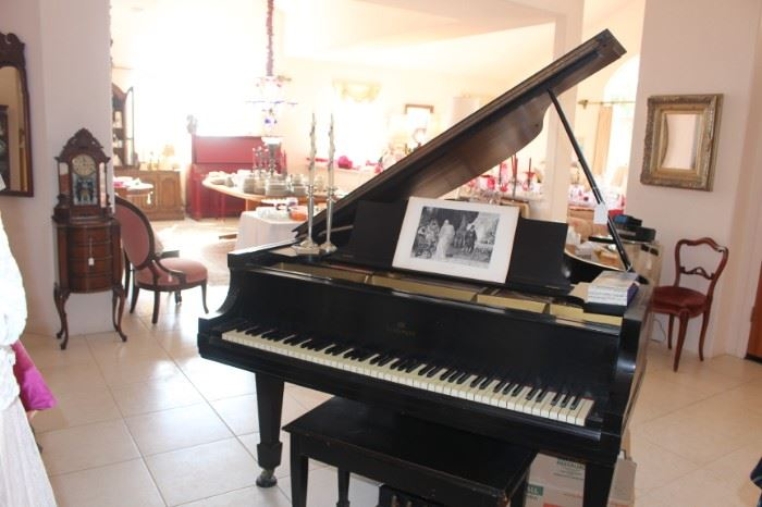Vintage well maintained baby grand piano