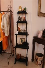 Pair of Vintage Pagoda Shelves from Swanky Manhattan Apartment.