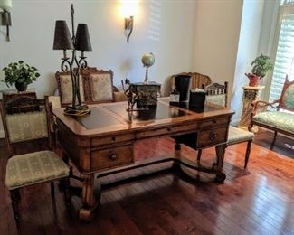 Antique furniture and newer desk