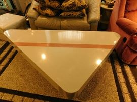 Formica coffee table triangle shape