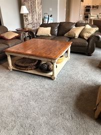 Large family room coffee table