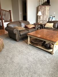 Love seat.  Coffee table.  Matching Sofa