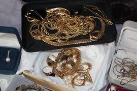Loads of 14K and Costume Jewelry