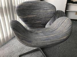 Pair of Fritz Hansen Swivel Chairs