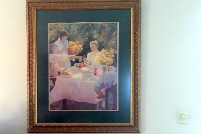 First Picnic limited edition off set lithograph signed by Don Hatfield