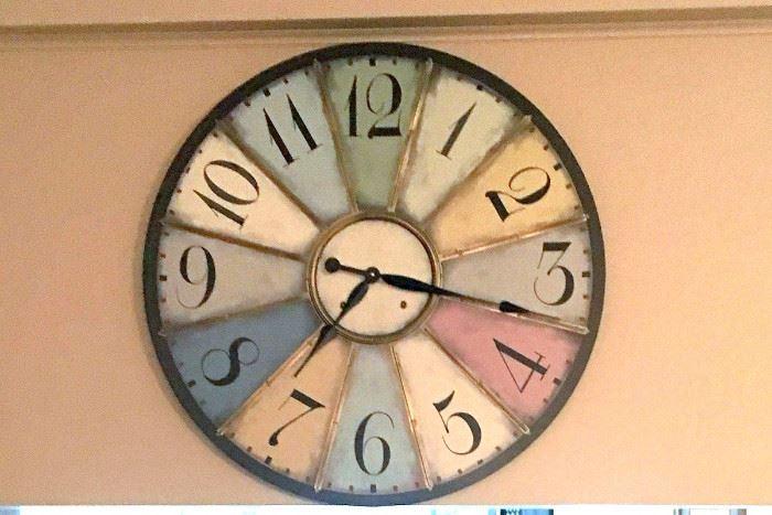 Linden Street Color Block Clock