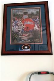 University of Florida 1996 National Championship Framed Limited Edition Joe Beck Print #136/1996 signed by Steve Spurrier and Danny Wuerffel