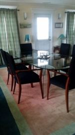 Nicole Miller dining table & chairs