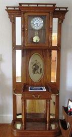 Another nice grandfather clock/hall rack