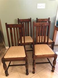 Beautiful Art Deco Oak Chairs