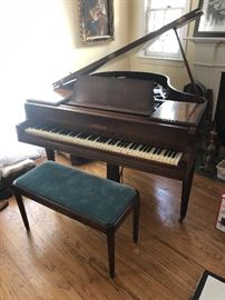 SIGNED CHICKERING BABY GRAND PIANO CIRCA 1943 - RECENTLY TUNED AND CONSIDERED ONE OF THE TOP FIVE PIANOS ALONG WITH STEINWAY