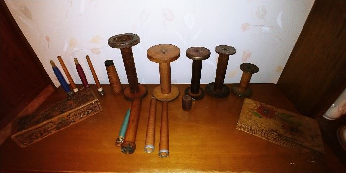 Antique Sewing Spools