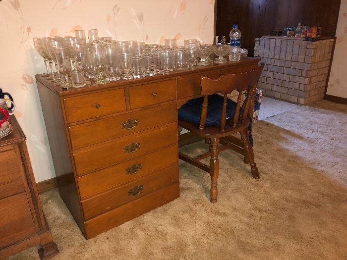 "Vintage Ethan Allen ""Baumritter"" Maple Desk"