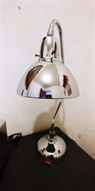 Vintage Apollo Electric Jewelers Lamp with original faceted blue mercury glass reflector shade.