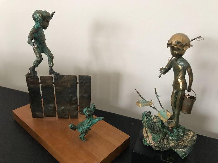Malcolm Moran statues