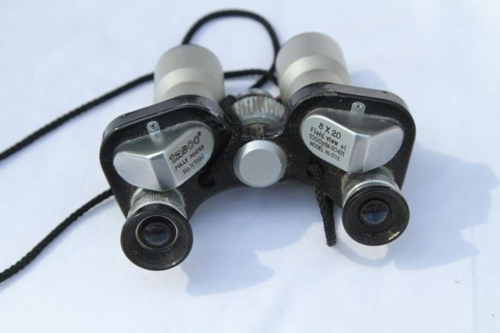 Tasco 8 x 20 mini binoculars.
