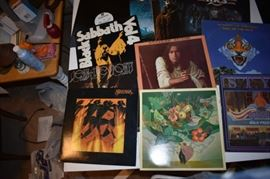 Just over 90 Albums with Loads of Rock Groups from Journey to Black Sabbath to Styx to Lynyrd Skynyrd to Folgelberg to Santanna and many many More!!