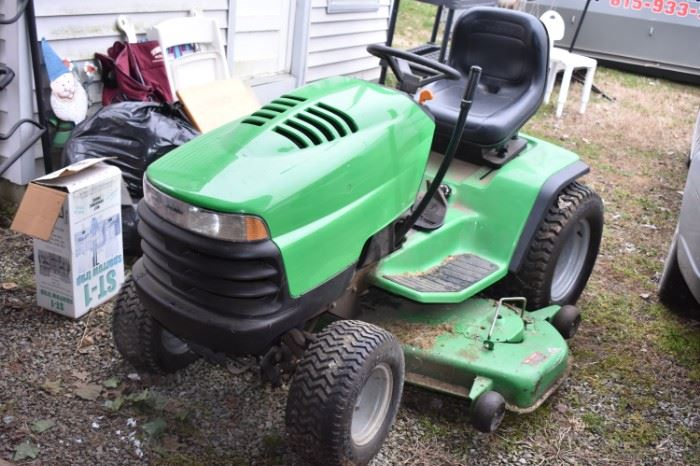"John Deere ""Sabre"" Riding Lawn Mower in Great Condition featuring a 54"" Mowing Deck!"