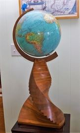 World globe with custom stand