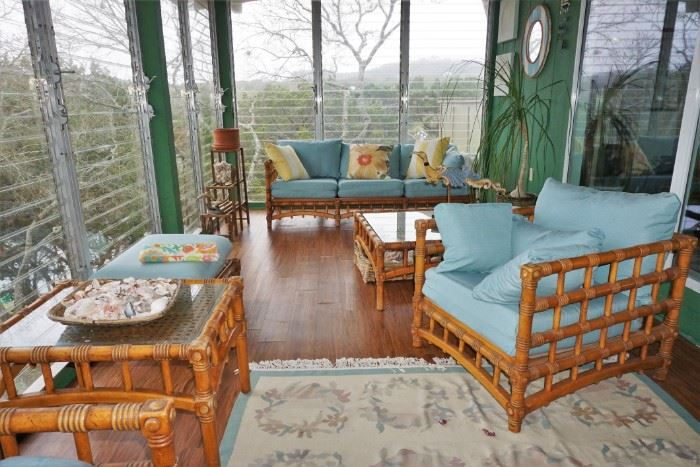 View of the sunroom