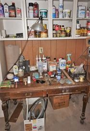 Tools and writing desk
