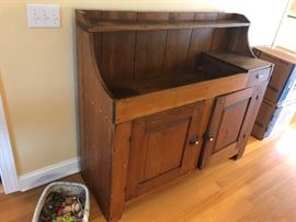 Antique dry sink - $ 434.00 - WILL NOT reduce 50 % or 75 %.  Reserve price.