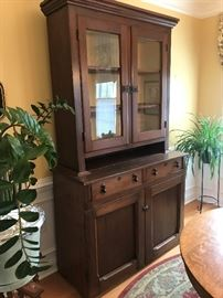 Beautiful solid wood antique Accent Hutch $ 496.00. Will NOT reduce 75% !!