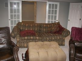 extra deep sofa and 2 leather chairs