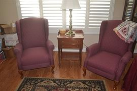 Only 1 Chair may be available.  Area rug, occasional table, Table Lamp etc. for sale