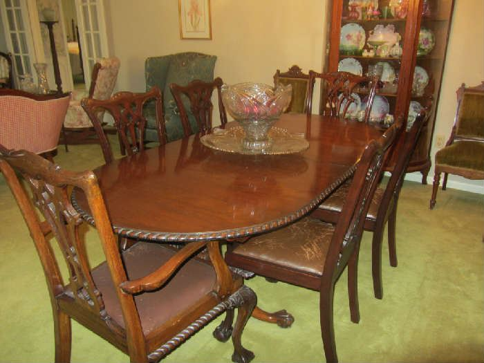 18th Century Chippendale Dining Room set, more