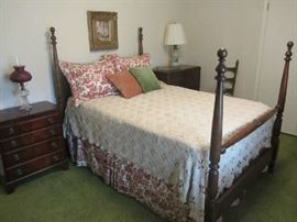 4 Poster Bed, Vintage Chest, Lamps,  more