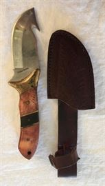 Timber Rattler Knife and Sheath