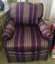 Purple Striped Chair