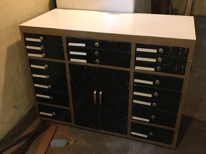 Former medical/dental cabinet w/drawers