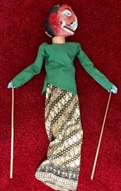 Vintage Indonesian marionette puppet