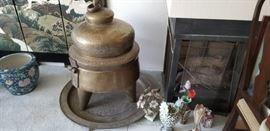 Large brass Chinese urn