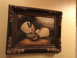 Rabbit painting
