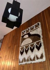 1970's black lucite light