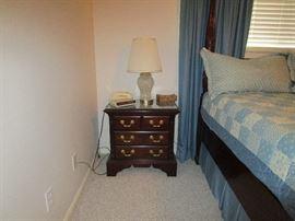 Thomasville nightstand, Sony dream machine alarm clock