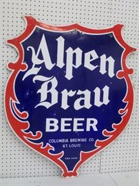 Porcelain Alpen Brau Sign