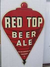 Red Top Tin sign double sided