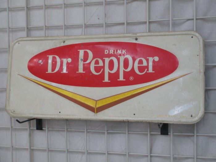 Dr Pepper tin sign