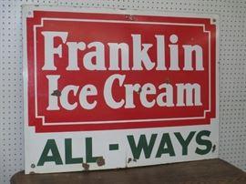 Franklin porcelain sign