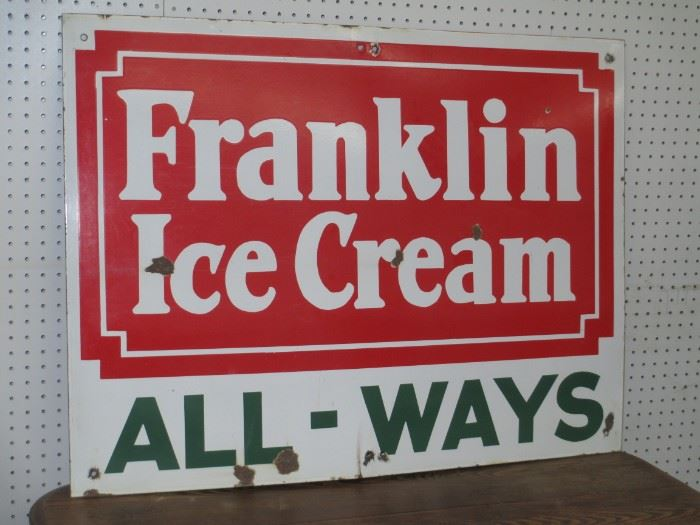 Franklin porcelain sign