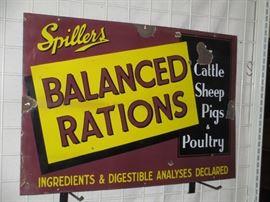 Balanced ration porcelain sign