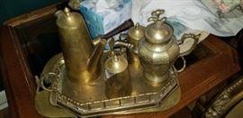 Brass serving pieces