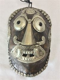 "Mask from Thailand, 9"" H."