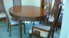 VERY NICE DINING SET OVAL TABLE, 6 CHAIRS, CHINA CABINET AND LEAVES